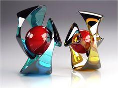 modern art glass sculpture