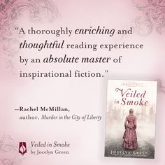 Rachel McMillan is one of the most prolific readers and writers I know (she has has four books releasing this year! What!). What an honor that she took time to read an early copy of #VeiledinSmoke --even better, she enjoyed it! Releases Feb 4, pre-order wherever you love to buy books.