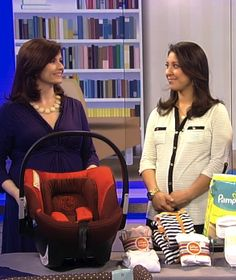 Here are the ONLY five things you really need when you get home from the hospital.  (weeSpring on ABC News' new #EarlyMorningMama segment!) #babygear