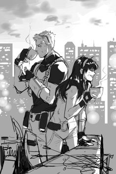 This is amazing. Hawkeye s Clint Barton , Kate Bishop. Fanart.