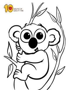 Koala Coloring Page 10 Minutes Of Quality Time Coloring Pages