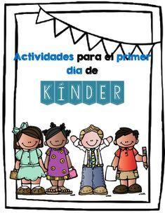 Actividades para el primer dia de kinder.  Los estudiantes:Traza numeros y letrasEscriben su nombreDibujan Cortan