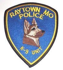 RAYTOWN MISSOURI POLICE K9 UNIT PATCH UNUSED