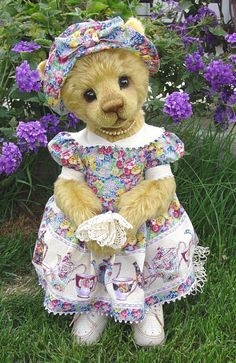 Tansy by Michelle Lamb  Not a Charlie Bear, but a very cute one, I love her little dress and hat.