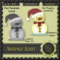 Snowman Script [Designs by seve] - $3.00 : LowBudgetScrapping