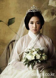 Park sin hye / Hanbok wedding dress / I don't remember that magazin