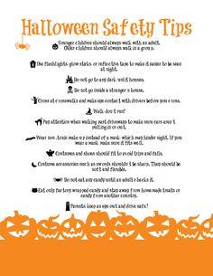 {Printable} #Halloween Safety Tips