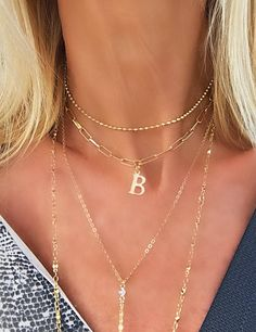 Large Initial personalized Jewelry