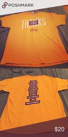 Lakers Pau Gasol commemorative shirt Stadium giveaway. Washed but never worn. Shirts Tees - Short Sleeve
