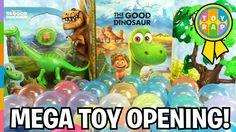 THE GOOD DINOSAUR Mega Toy Opening Dinosaur Surprise Eggs Vending Machin...