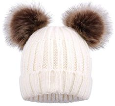 Shop a great selection of Simplicity Womens Winter Cable Knit Faux Fur Pompom Ears Beanie. Find new offer and Similar products for Simplicity Womens Winter Cable Knit Faux Fur Pompom Ears Beanie. Cute Beanies, Cute Hats, Knit Mittens, Knitted Gloves, Large Scarf, Pink Hat, Knit Beanie Hat, Ladies Party, Shawls And Wraps