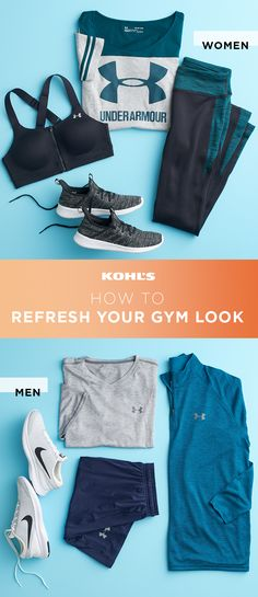 Adding a new outfit into your gym gear rotation is all it takes to keep your workout look fresh. Think solids in darks and neutrals that you can mix and match with your tried-and-true favorites. For women, get a new sports bra, a sweatshirt, running tight Gym Gear, Workout Gear, Fun Workouts, Workout Leggings, Running Tights, Running Shoes For Men, Mens Running, Running Sneakers, Yoga Beginners