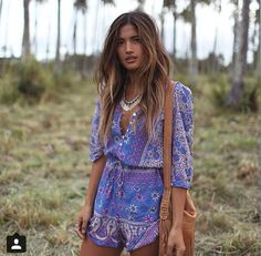 spell and the gypsy collective - boho blossom playsuit - lavender