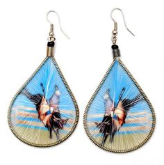Rodeo Bull Rider Threaded Earrings