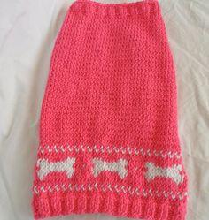 Cute dog sweater knitting pattern PDF small by InspiredByMocha