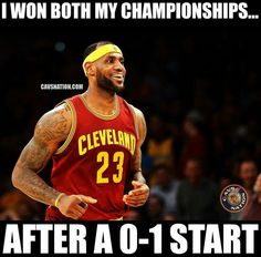 you best believe it. listen up haters, this is nothing new for the King. he's got it under control. #hesbeenherebefore