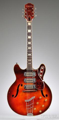 American Electric Guitar, Harmony Company, Chicago, c. 1963, Model Airline Truetone 7230