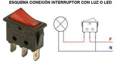 esquema conexion de interruptor con luz led
