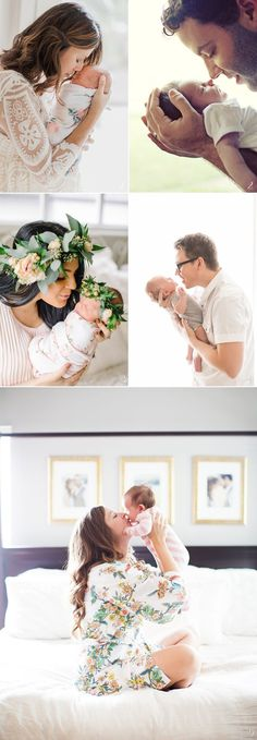 How to Pose Parents with Newborn Baby 6 Stress-Free Baby Photo Poses! #ParentingPhotography
