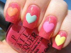 Extend fashion to your nails using nail art designs. Used by fashion-forward celebrities, these nail designs will incorporate instant elegance to your apparel. Nail Art Saint-valentin, Nail Art 2014, Heart Nail Art, Finger Nail Art, Heart Nails, Nail Nail, Heart Nail Designs, Valentine's Day Nail Designs, Simple Nail Art Designs