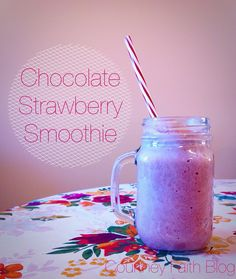 """Chocolate Strawberry Smoothie   Courtney Faith Blog   """"My big resolution for 2017 is to live a healthier lifestyle. That means eating healthy foods, doing healthy activities, using healthy products, and having a healthy attitude on life in general..."""""""
