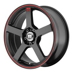 "4 Lug 100 114.3 4.5 15"" Inch Black Red Wheels 15x6.5 40mm Set of 4 Rims"