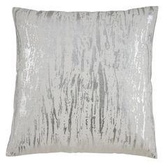 Distressed Metallic Foil Design Cotton Down Filled Throw Pillow - Silver - Polyester), Saro Lifestyle Outdoor Throw Pillows, Decorative Throw Pillows, Square Floor Pillows, Floor Cushions, How To Clean Pillows, Silver Pillows, Throw Pillow Sets, Foil Prints, Metallic Gold
