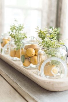 37 Awesome Spring Centerpieces For Kitchen Table Decor - With spring in bloom outside, it's as easy as adding beautiful, fresh flowers inside to enliven your home and decorate for Easter. Easter decorating d. Everyday Centerpiece, Summer Centerpieces, Jar Centerpieces, Centerpiece Ideas, Dining Table Decor Centerpiece, Dining Room Table Decor, Room Decor, Dining Tables, Dining Rooms