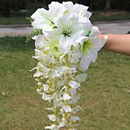 Elegant Cascade Silk Wedding Bouquet – USD $ 35.99