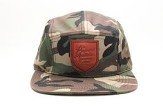 Profound Aesthetic Camo 5 Panel Shield Hat