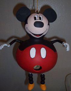 Mickey Mouse Birdhouse Gourd