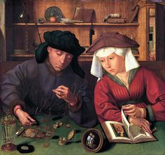 """Le prêteur et sa femme"" (The Moneylender and his Wife) by Quentin Metsys"