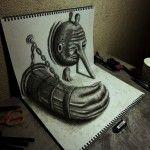 Magnifiques dessins en 3D de NAGAI HIDEYUKI ART