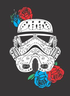 Storm Trooper Dia De Los Muertos Art Print by LexLuthor | Society6