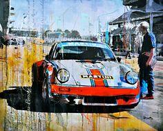 Porsche Kunst für das Wohnzimmer http://www.artfan.de/haub-markus-porsche-911-martini-classic-car-junge-kuenstler.html