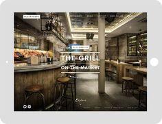 Blackhouse - Restaurant Website Design for Tablet