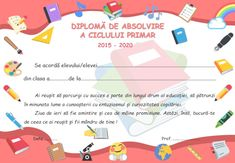 Diplome de absolvire pentru clasa a IV-a. Modele în format editabil Map, Deco, Mariana, Location Map, Decor, Maps, Deko, Decorating, Decoration