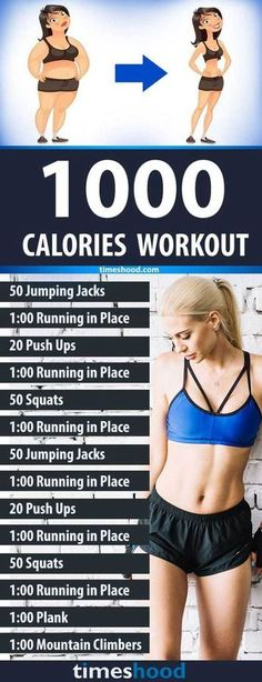 How to lose weight fast? Know how to lose 10 pounds in 10 days. 1000 calories bu… How to lose weight fast? Know how to lose 10 pounds in 10 days. 1000 calories burn workout plan for weight loss. 1000 Calorie Workout, Calorie Burning Workouts, 1000 Calorie Burn, How To Burn Calories, 1000 Calorie Diet Plan, 1000 Calories A Day, Calories Burned Squats, Quick Weight Loss Tips, Workout Motivation