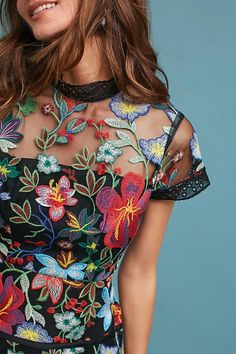Slide View: 2: Janine Embroidered Dress