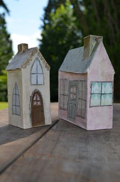 Little Houses Folk Art Paperclay