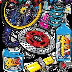 Motorcycle Art, Bike Art, Cool Car Drawings, Bike Logo, Automotive Logo, Lord Shiva Painting, Graffiti Wallpaper, Live Wallpapers, Logo Design
