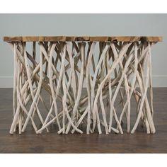 Alto Tan Rectangle Console Table - $470