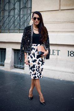Punk+ladylike, Paris Fashion Week Spring 2014 | Vogue.es Street Style