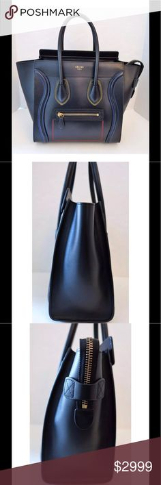 Spotted while shopping on Poshmark  CELINE Black Calfskin Micro Luggage  Tote Bag!  poshmark 66dab16dd6