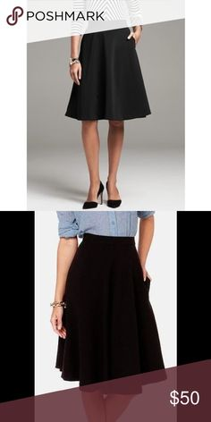 Black Banana Republic Midi Skirt Gorgeous black banana republic midi skirt. Perfect for work or date night! Only flaw is the seams are coming undone a bit at the left and right bottom edges only. If you're crafty it'll be an easy fix!!! Banana Republic Skirts Midi