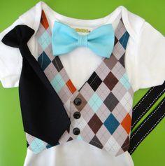 Baby Boy Clothes  Baby Grey Argyle Vest   Baby by NoahsBoytiques, $32.00