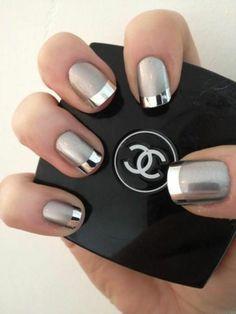 idee deco ongle, un joli modele ongle gel de couleur gris
