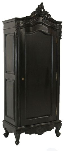 French Moulin Noir Small 1 Door Armoire