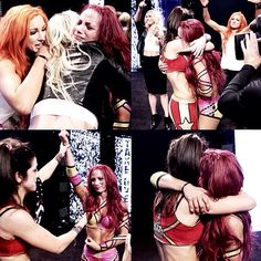 Moments like these make me even more proud to be a wrestling fan.  #sashabanks #bayley #beckylynch #charlotteflair