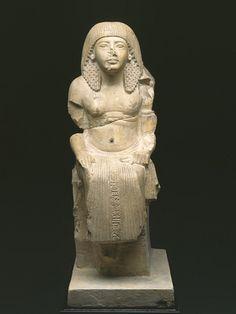 Statue of Meryma'at, Thebes, Dra Abu el-Naga, late Dynasty 18 or early Dynasty 19 (1332-1279 BCE)